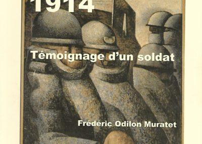 Temoignage d'un soldat – MURATET Frédéric Odilon