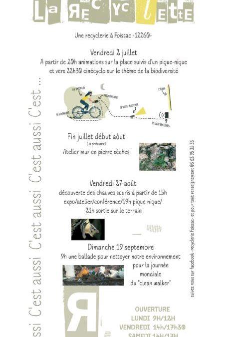 PROGRAMME DE LA RECYCLETTE